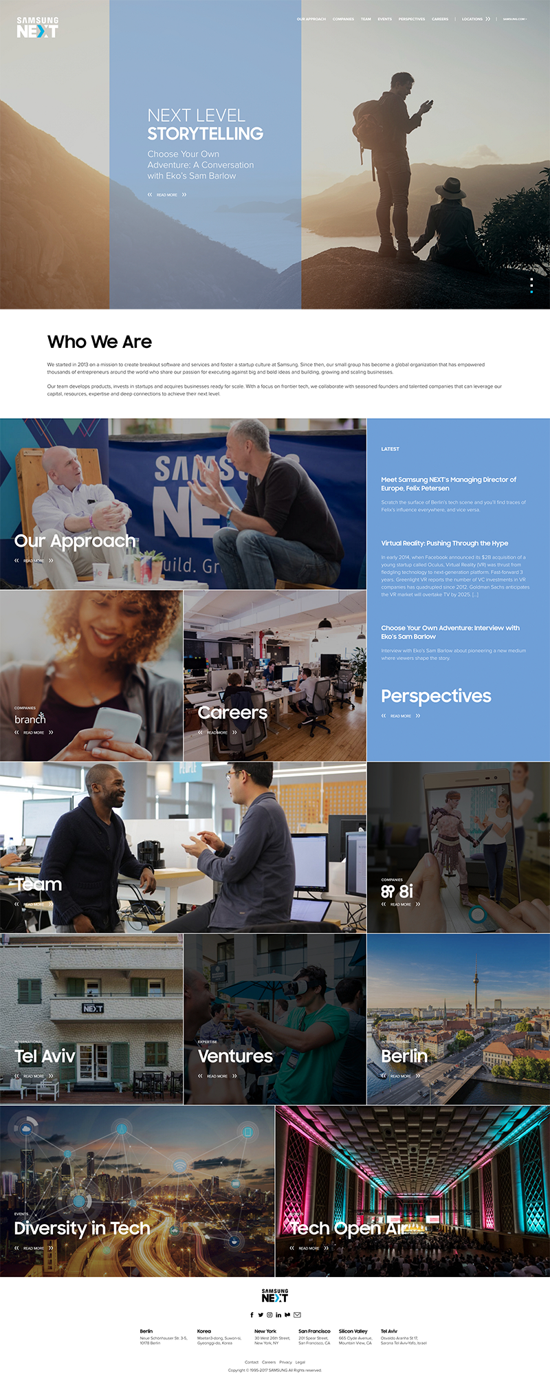 Samsung NEXT site home page