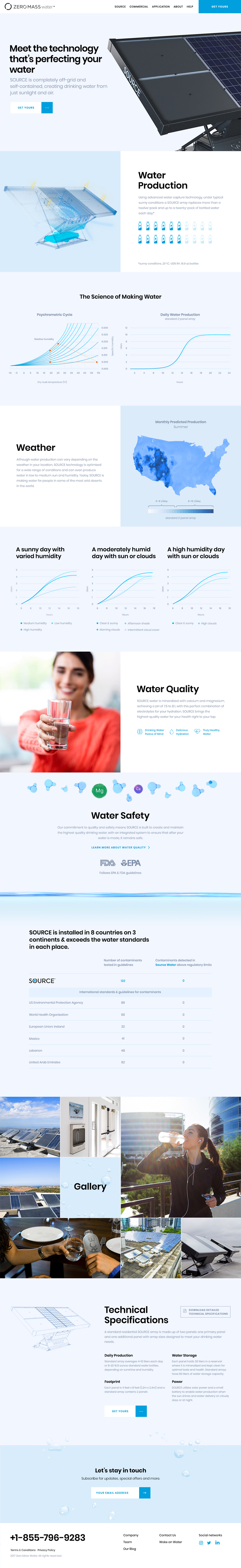 Zero Mass Water site home page