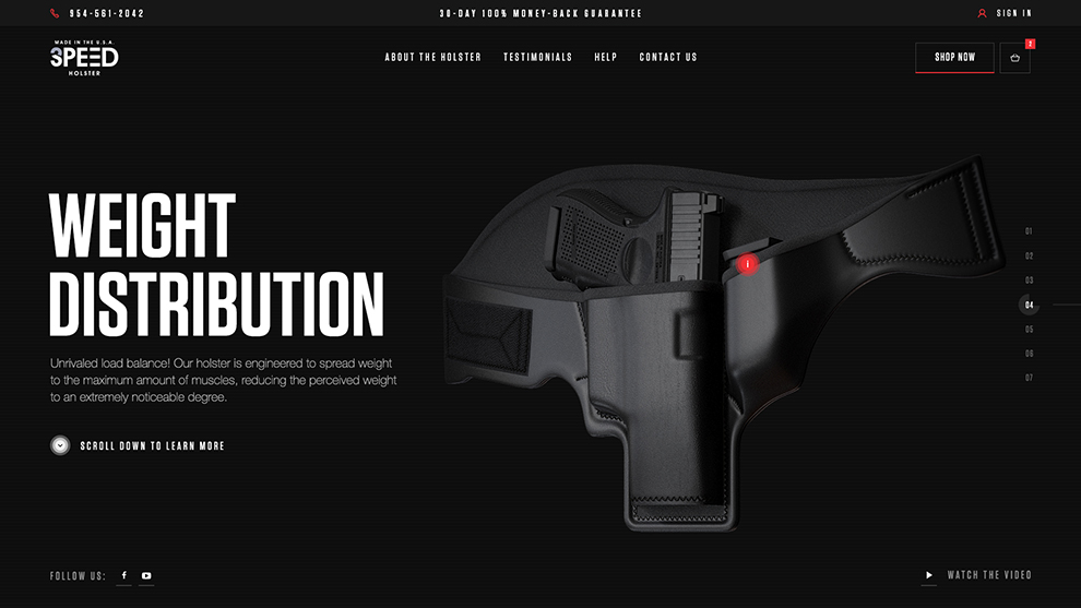3 Speed Holster - Inner Pages Design