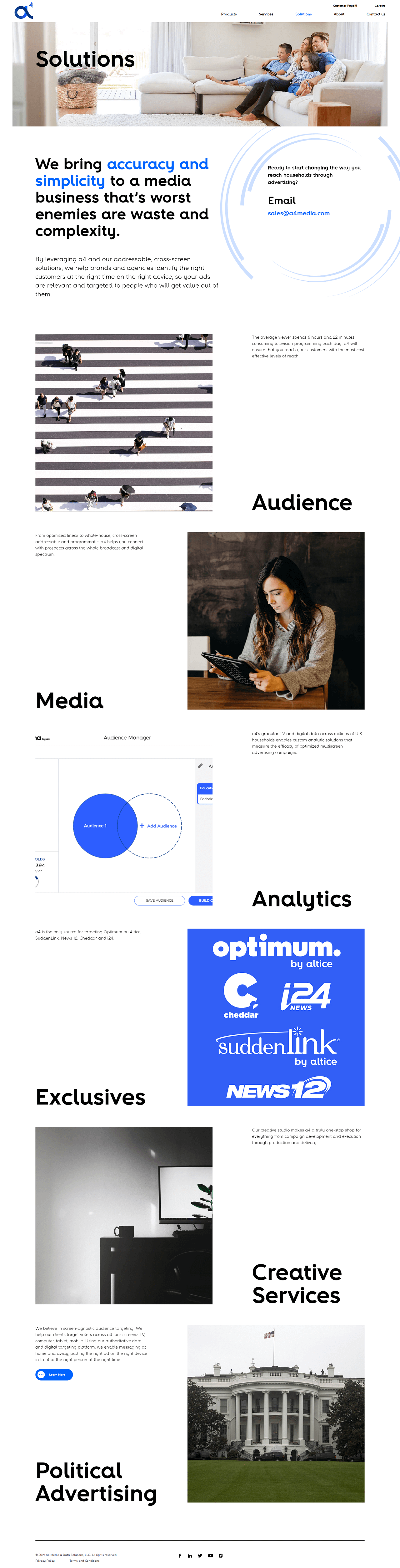 a4 Media Inner Pages Design