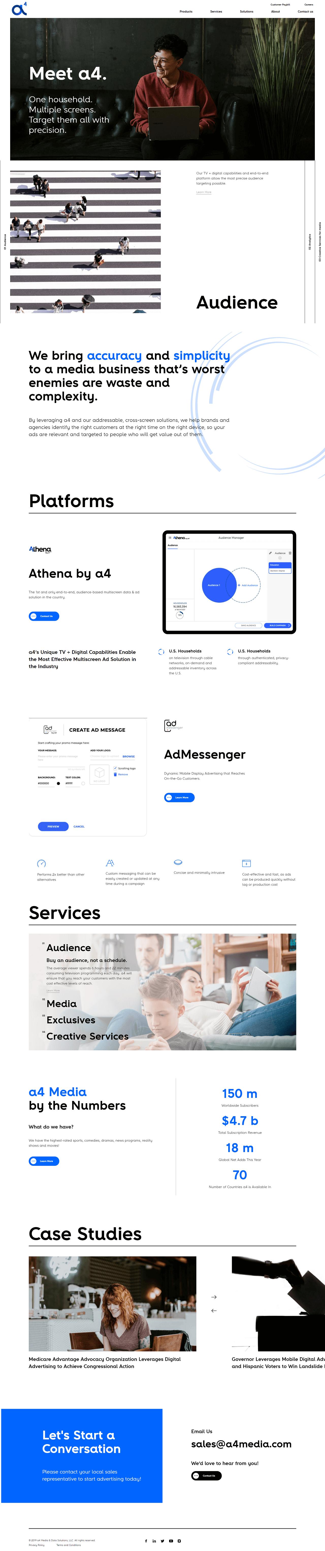a4 Media Home Page Design