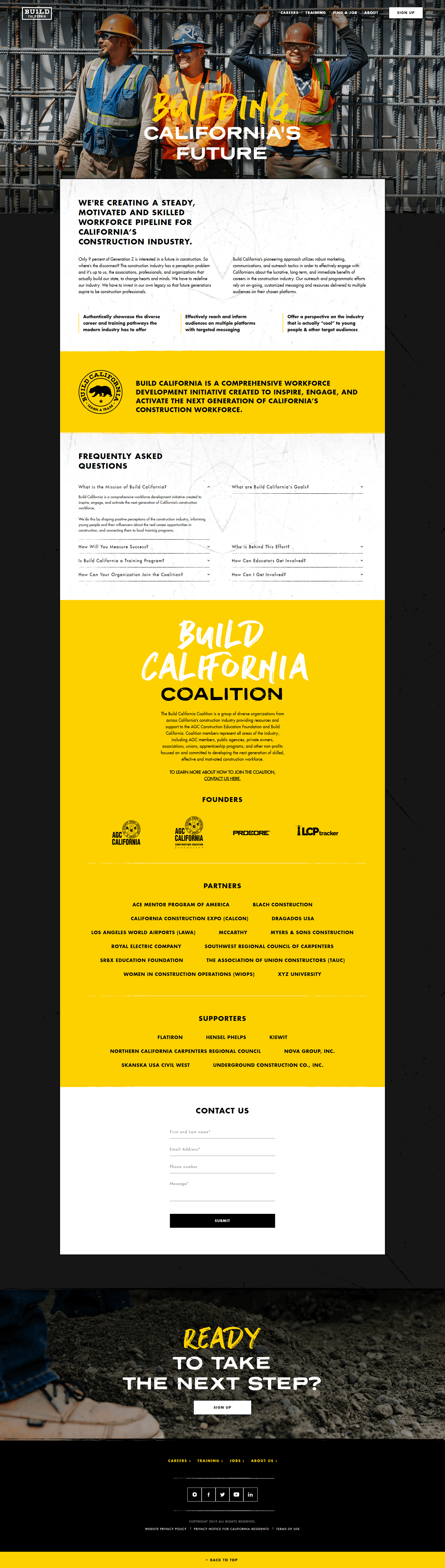 Build California site about us page
