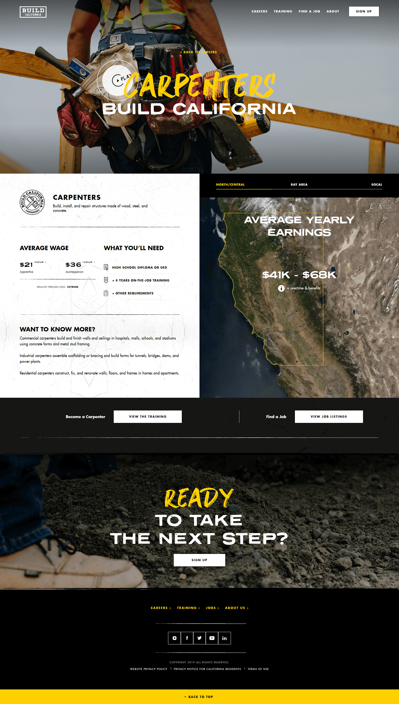 Build California site inner page