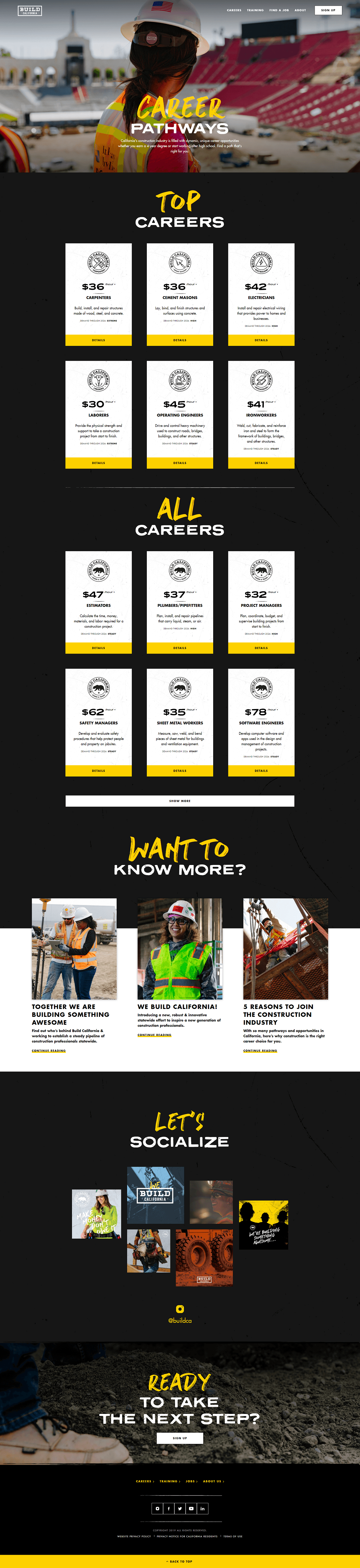 Build California site carrers page