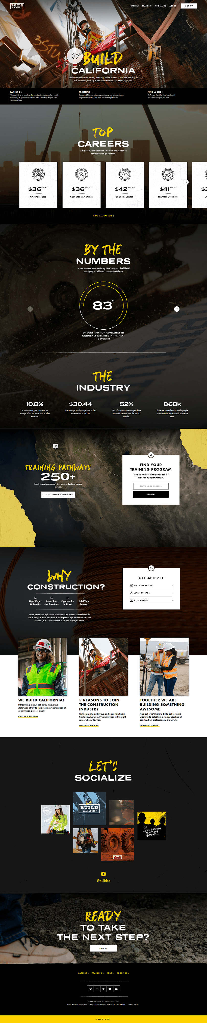 Build California site home page